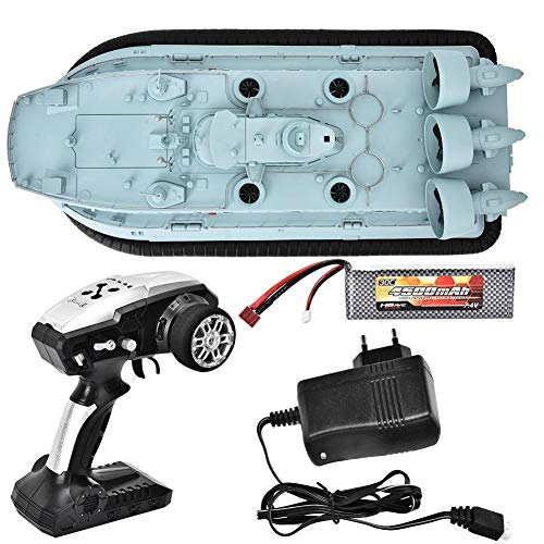 Hovercraft Toy, HG-C201 Maßstab 1:110 2.4G RC Hovercraft, ferngesteuertes Boot RC Toy 110-240V EU-Stecker für Innenboden, Zementboden, glatten Sand und Flachwasser