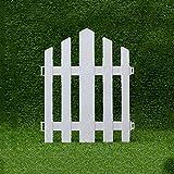 WXQIANG Valla Patio, 10 Piezas de plástico Vallas, Valla Césped Edge, Cubierta Frontera del jardín, Cerca del jardín del Carril Blanca piquetes, 30x36cm