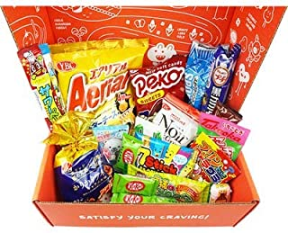 Crave Japan - Japanese Snack Box with NOODLES AND DRINK - Includes 4-8 FULL-SIZED Items (15-18 Items Total), Asian Mystery...