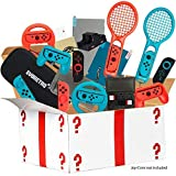 Ultimate Accessories Bundle compatible for Nintendo Switch - 21 in 1 Essential Kit including (Tempered Glass Screen Protector, Travel Carrying Case, Joy Con Charging Dock Station, Grip, and more)