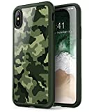 i-Blason Case for Phone X (2017)/ iPhone Xs (2018), [Scratch Resistant] Clear [Halo Series] Case (Camo/Green)