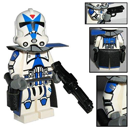 Custom Brick Design 501st Legion Clone Trooper Figur Captain Drogo - modifizierte Minifigur des bekannten Klemmbausteinherstellers und somit voll kompatibel zu Lego