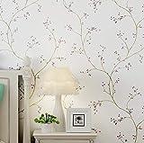 Dormitorio Sala de estar Papel tapiz de fondo Moderno Minimalista Lado del país Flor pequeña Papel pintado no tejido 0.53 x 10m C