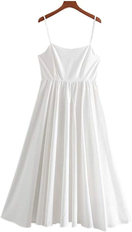 Women Elegant Collar Backless midi Dress Sleeveless Side Zipper Fly Party wear Dresses