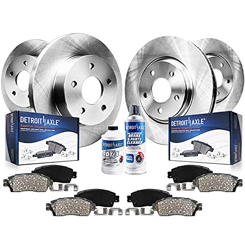 Detroit Axle - 4WD 5 Lug Front and Rear Disc Brake Kit Rotors w/Ceramic Pads...