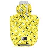 kyeese Dog Rain Poncho Waterproof Reflective Dog Yellow Raincoat with Hood for Small Dogs Lightweight Packable Dog Slicker Rain Jacket with Zip Pocket