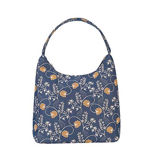 Signare Tapestry Arazzo Arazzo Borsa a Tracolla Donna, Borse Tote per Donne, Hobo bags con Disegni Floreali (Austen Blue)