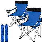 tectake Chaise de Camping Fauteuil Pliable avec Porte-Boisson et Sac de Transport -...