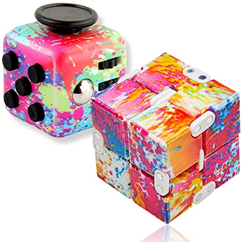 Paochocky Stressabbau buntes Würfelset Decompression Toys mit Infinite Cube für Kinder und Erwachsene für ADHS Autismus Stress Angst