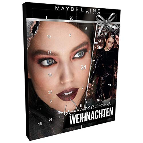 Maybelline New York Beauty Adventskalender 2018 – met 24 producten, met exclusieve beauty-cadeaus – voor de perfecte kerstlook