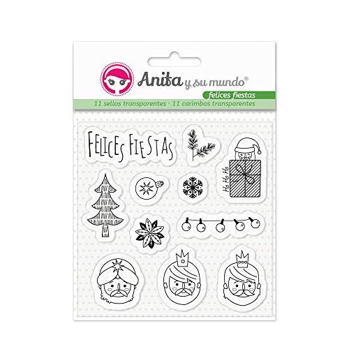 Anita y Su Mundo Accesorios Felices Fiestas, Silicona, Surtido, 11