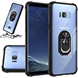 STORM BUY Phone Case for [ Samsung Galaxy Note 8 ], Crystal Clear Back Cover with [Shock Absorption] Protection, Kickstand Ring Black Case for for Galaxy Note 8 (6.3-inch CRBK)