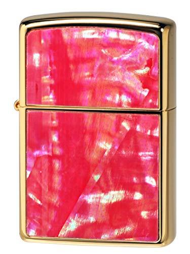【ZIPPO】 ジッポーライター オイル ライター SHELL シェル 貝貼り ロゴ 金メッキ 2G-ZSHELL