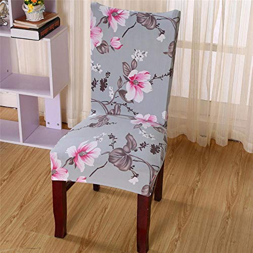 WOOAI Fundas elásticas para sillas con Estampado Floral Spandex para Boda, Comedor, Oficina, Banquete, Silla Que Cubre la casa de Chaise