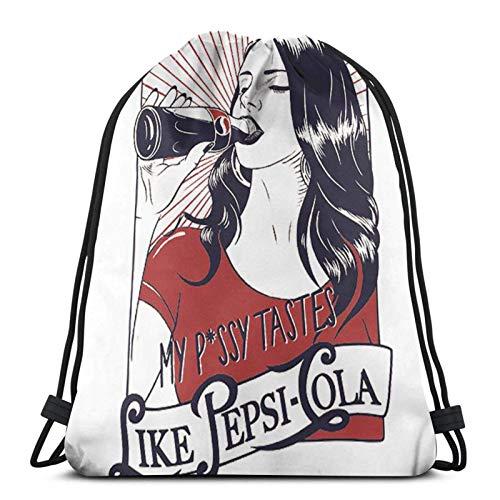 Yuanmeiju La-Na del Rey Drink Cola Fashion Bolsa con cordón Shoulder Bags Sport Storage Bag For Man Women