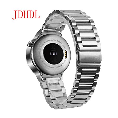 Huawei Watch Band, JDHDL® Stainless Steel Watch Band Straps for New Huawei Watch in 2015 (Stainless Steel Silver)