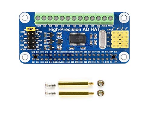Waveshare High-Precision AD Hat For Raspberry Pi/Jetson Nano with...