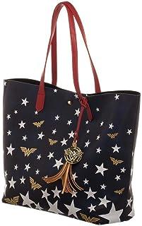 Wonder Woman کیف بزرگ سفید و آبی