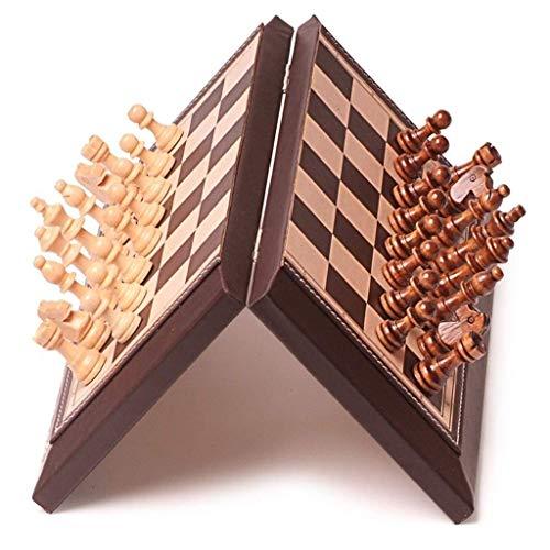 MxZas Junta de ajedrez Placa Plegable ajedrez de ajedrez magnético Juego de ajedrez Internacional Juego Juego de Familia portátil Juego de ajedrez clásico (Puzzle Entertainment Family) Jzx-n