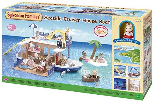 Sylvanian Families 5206 Kreuzer-Hausboot am Meer, Mehrfarbig