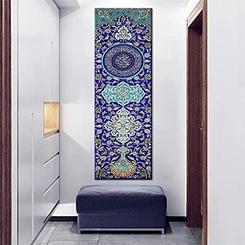 DIY 5D Large Diamond Painting Musulmán islámico Kits de Perforación Completos Rhinestone Picture Art Craft para decoración de la Pared del hogar 40x120cm Square Drill