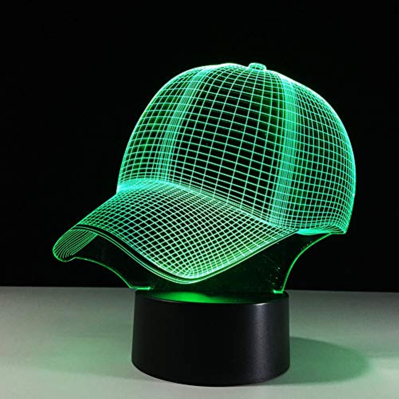 Wuqingren 7 Farben ndern Boy Schlafzimmer dekor licht 3D Hut baseballmütze led Sport Schreibtisch tischlampe Baby Schlaf nachtlicht Kind Weihnachten Geschenke,Remote und berühren