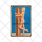muzi928 Hojalata de alcantarilla Cigarros Carteles de Chapa Vintage Metal Pin Up Poster Arte de la P...