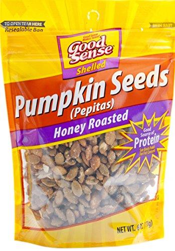 Good Sense | Shelled Pumpkin Seeds (Pepitas) | Honey Roasted - 6 Ounce (6 OZ) Bag