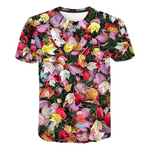 WBL Unisex Camisetas 3D Estampado Manga Corta Verano Casual T-Shirt Top Cuello Redondo (Color : B, Talla : M)