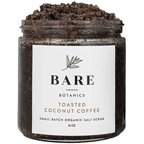 Bare Botanics Arabica Coffee Body Scrub (Coconut) Mega 16oz | Gently Exfoliating, All Natural, Non-Greasy, Ultra Moisturizing, No Synthetic Fragrances, Handmade in USA, Organic