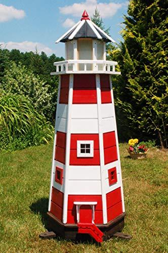 Deko-Shop-Hannusch XXL Leuchtturm mit 230V Netzanschluss, Bunte LED Beleuchtung