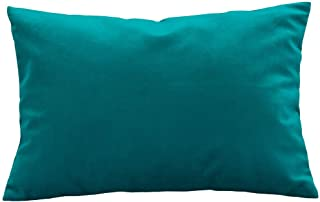 Om Bedding Collection Travel Pillowcase 12X16 500 TC Egyptian Cotton Set of 2 Toddler Pillowcase with Zipper Closer Solid Teal with 100% Egyptian Cotton (Toddler Travel 12X16, Solid Teal)