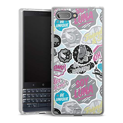 DeinDesign Silikon Hülle kompatibel mit BlackBerry Key2 LE Hülle transparent Handyhülle Soy Luna Disney Offizielles Lizenzprodukt