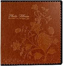 Beautyus Photo Album Book, Family Album, Leather Cover, Holds 3x5, 4x6, 5x7, 6x8, 8x10 Photos (Brown)