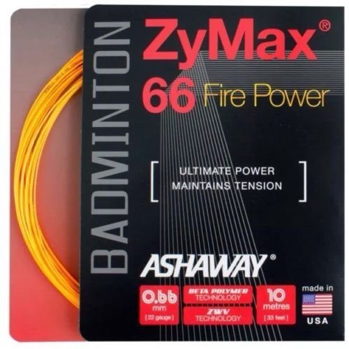 ASHAWAY ZyMax 66 Fire Power badminton String 5 x 10 m Sets, orange