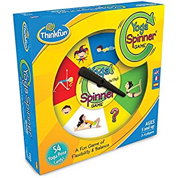 ThinkFun Yoga Spinner Yoga Game for Kids Age 5 and Up - Award Winning Game for Yoga Loving Parents and their Kids