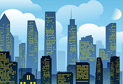 Superhelden-Stadt-Hintergr& für Babyfotos, Kindergeburtstage, Fotografie, Bilder, Wanddekoration, Vinyl-Hintergr&, Fotokabine, FD1524