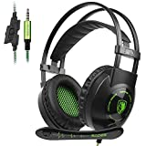 SADES 3.5MM Stereo Surround Gaming Headset with Microphone Volume Control Headphones for PC/MAC/PS4/Smartphone/Table