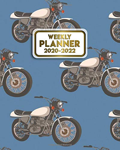 2020-2022 Weekly Planner: Harley Davidson Year Daily Schedule Agenda & Organizer with Weekly Spread Views - 3 Year Planner with Notes, Motivational ... Boards & More - Awesome Motorbike Cover