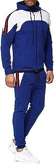 iHHAPY Men's Tracksuits Zipper Jacket Long Pants Suit Loose Fit Autumn Winter Sweatshirt Top Pants Sets Sport Suit