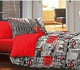 HomeLife - Trapunta Matrimoniale Invernale [250X250] Made in Italy | Trapunta Imbottita Calda | Piumino 2 Piazze, Copriletto Trapuntato Reversibile con Stampa Immagini di Londra