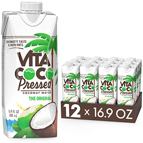 Vita Coco Coconut Water, Pressed Coconut | More 'Coconutty' Flavor | Natural Electrolytes | Vital Nutrients | 16.9 Fl Oz (Pack of 12)