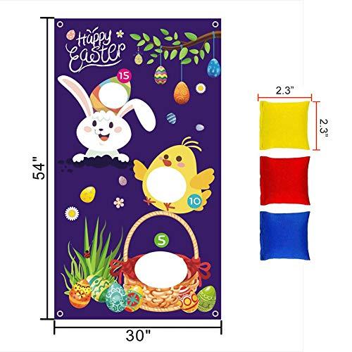 Eillybird Zandzak voor Pasen, voor Pasen, met 3 zitzakken voor kinderen en volwassenen