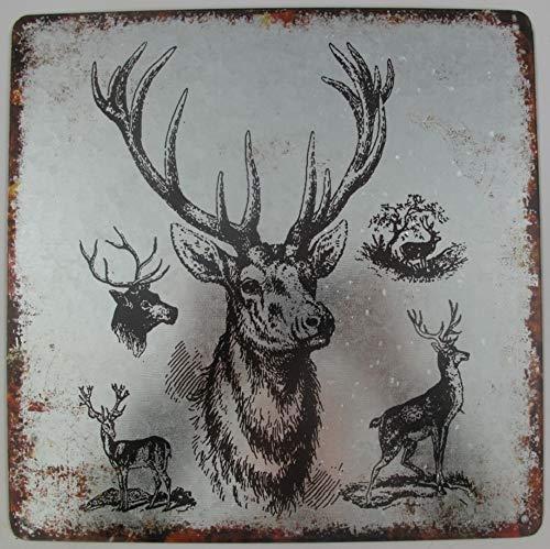 Edzard Photophore en cuivre Motif cerf Hauteur 8 cm