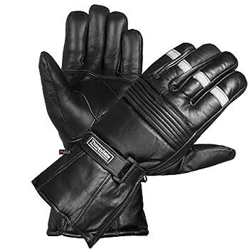 -20 ℉ Winter Men Premium Sheep Leather Motorcycle Thinsulate Gauntlet Gloves M