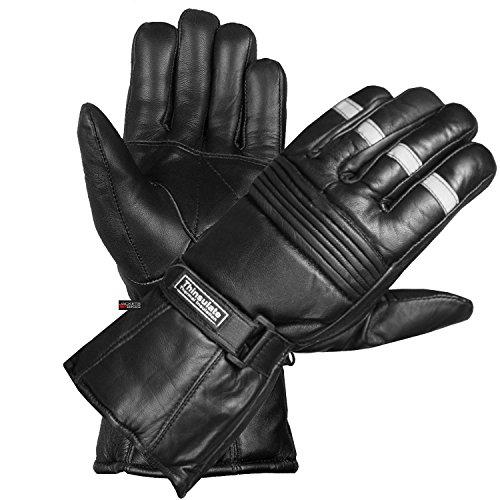 -20 ℉ Winter Men Premium Sheep Leather Motorcycle Thinsulate Gauntlet Gloves XXL