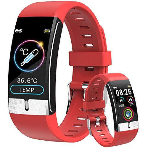 Smartwatch Temperature Donna, ECG Orologio Intelligente Uomo ATM5 Bluetooth Activity Tracker Orologio Contapassi Braccialetto Contapassi DigiKuber Fitness Tracker Cardiofrequenzimetro per Android iOS