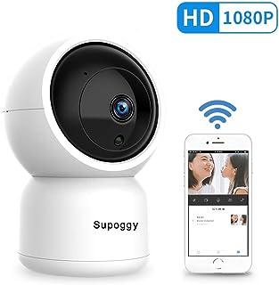 Supoggy Pan/Tilt/Zoom HD IP Cámara Vigilancia 1080P Cámara de Seguridad Doméstica Vigilabebés WiFi