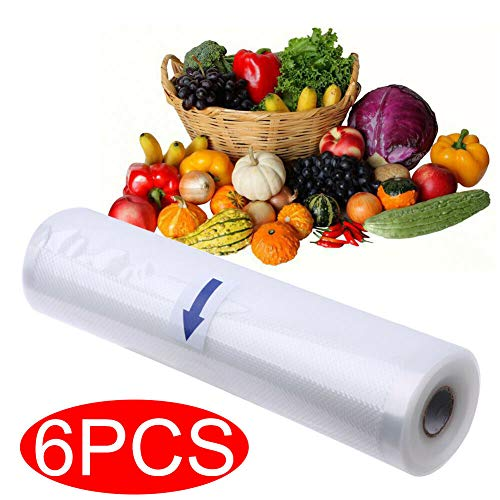 Best Buy! Vacuum Sealer Bag Rolls 11x16.5' Commercial Grade Bag Rolls for Food Saver and Sous Vide,...