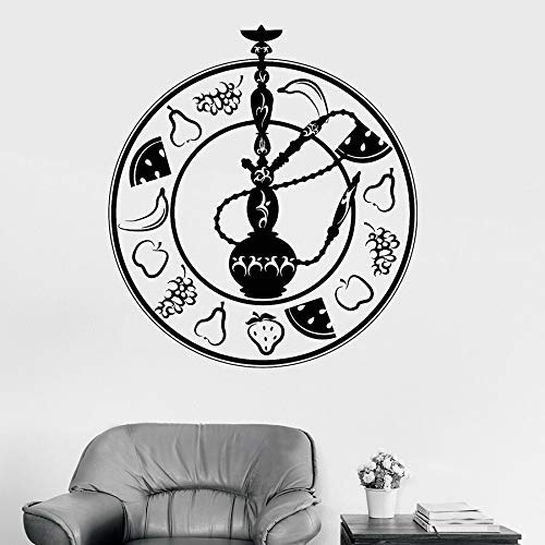 Obst Shisha Vinyl Wandtattoo Shisha Aufkleber Lounge Bar Raucherzimmer Wanddekoration Aufkleber Home Dekoration Tapete & Lt; & Gt; 42X47Cm
